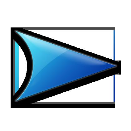 blue right arrow icon 23